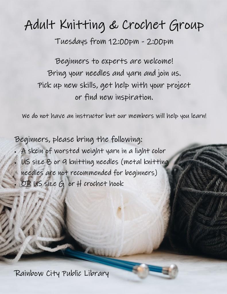 Knitting & Crochet group - sign July 2021